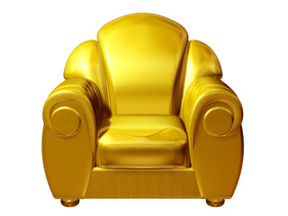 golden club chair