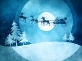 Fototapety blue christmas