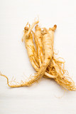 Fresh Ginseng isolated on white