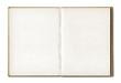 Leinwanddruck Bild - Vintage blank open notebook
