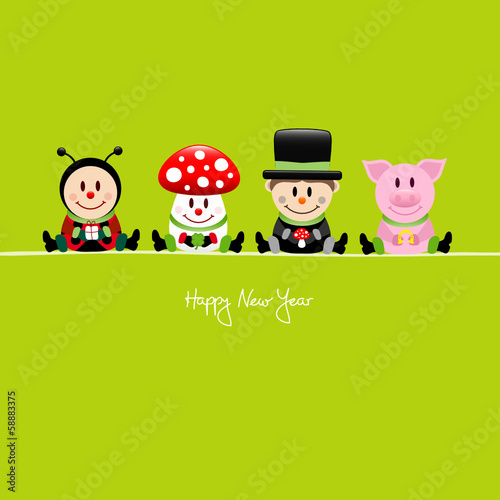 Ladybeetle, Fly Agaric, Chimney Sweeper & Pig Lucky Charms