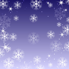 White snowflakes on a violet background.christma s background.ba