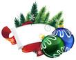 Pine Tree wreath with Christmas balls