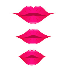 set of kissing lips