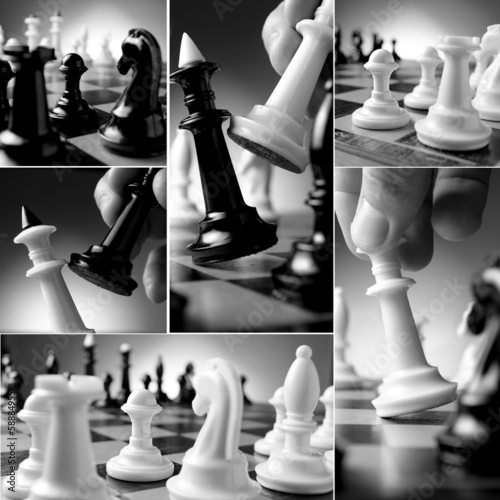 conceptual chess collage
