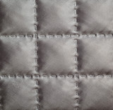 Closeup of quilted fabric