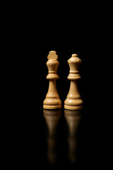 wooden chess pieces.