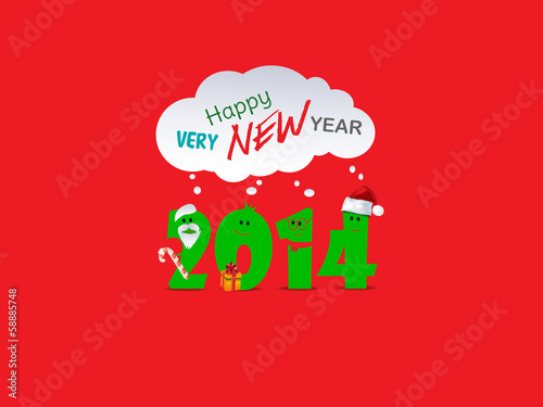 New Year background with 2014 sign