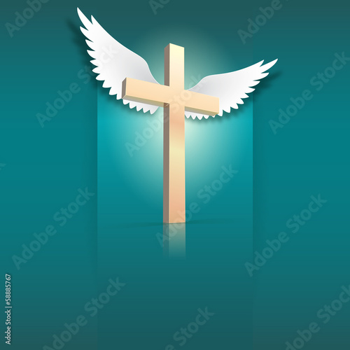 cross and wings