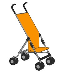 cartoon image of baby buggy