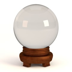 realistic 3d render of crystal ball