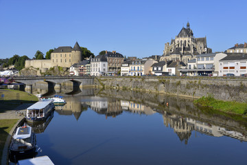 River at Mayenne in France