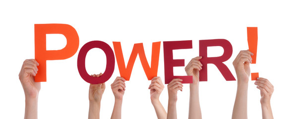 Hands Holding the Word Power