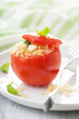 baked tomato stuffed with couscous and feta