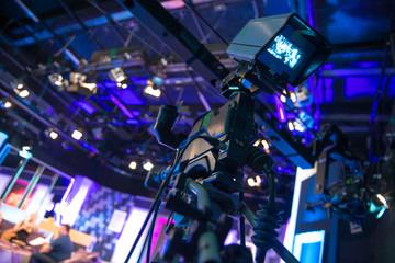 Video camera - recording show in TV studio