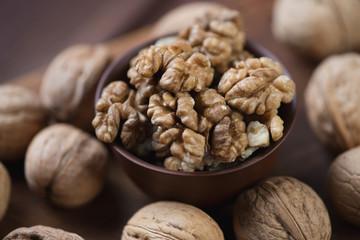 Still life food: walnuts, horizontal shot