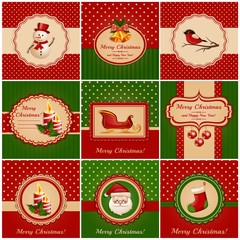 Christmas cards. Vector illustration.