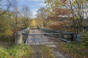 steel roadbridge over river