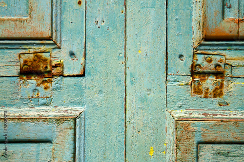 colorated dow door in lanzarote spain