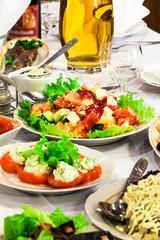 fresh salads and juice