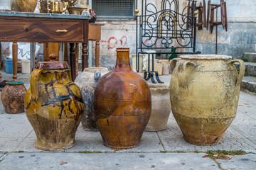 Old ceramic pots