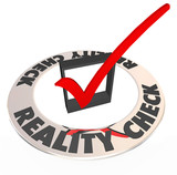 Reality Check Mark Box Realistic Potential Possibility
