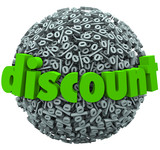 Discount Percent Sign Sphere Save Money Sale Price