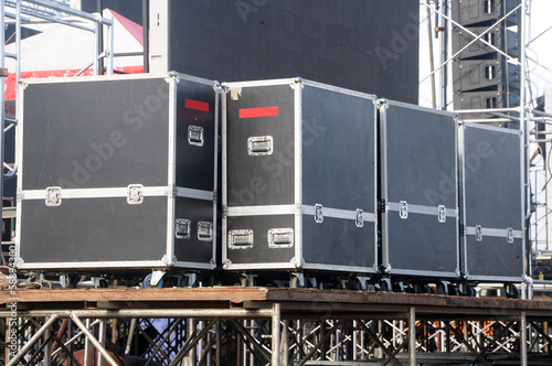 audio stage amplifiers, speakers and equipment
