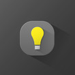 LIGHT BULB ICON (button symbol 3D ideas innovation)