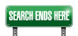 search ends here road sign illustration design