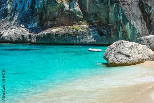 canvas print picture Sardegna, spiaggia di Cala Goloritzè, Baunei