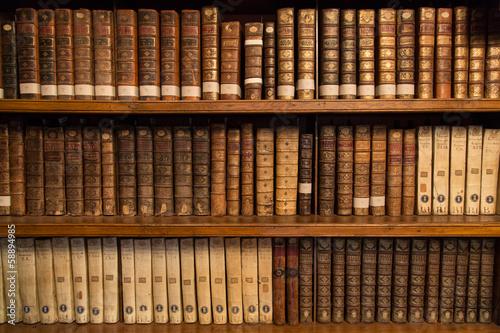 Livres dans une bibliothèque - 58894985