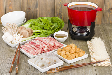 Szechuan Hot Pot - Spicy Chinese hot pot meal.