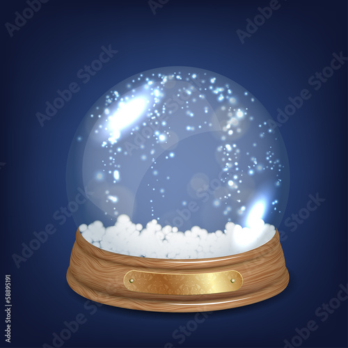 Empty Snowglobe or Snow-dome