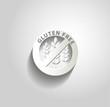 Gluten free symbol, paper design