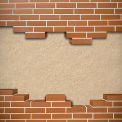 Broken brickwall background