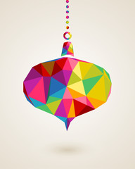 Merry Christmas colors triangle hanging bauble