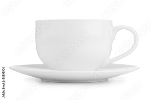 white tea cup isolated on white