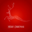 Merry Christmas deer star shape illustration