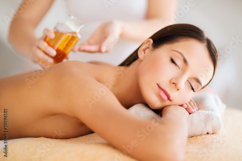 beautiful woman in spa