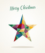 Merry Christmas and Happy New Year contemporary greeting card
