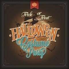 Happy Halloween Typographical Background