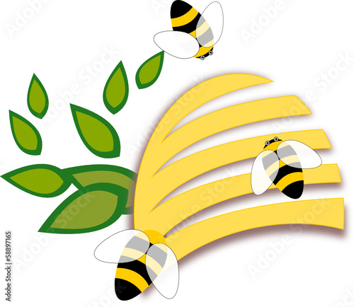 Nature Beehive Icon or Logo