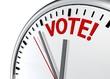 vote clock sign