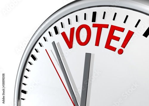 vote clock sign