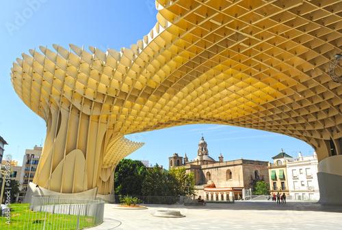 Metropol Parasol in Plaza de la Encarnacion in Seville, Spain