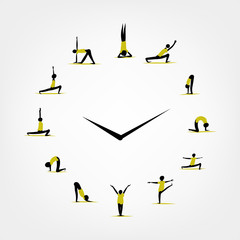 Yoga time, watch concept for your design