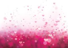 Wektor różowy tła z serca.