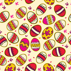 Background with colorful Easter eggs.