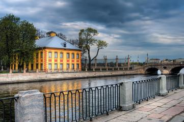 Peter's house in Summer garden. Saint-Petersburg, Russia.